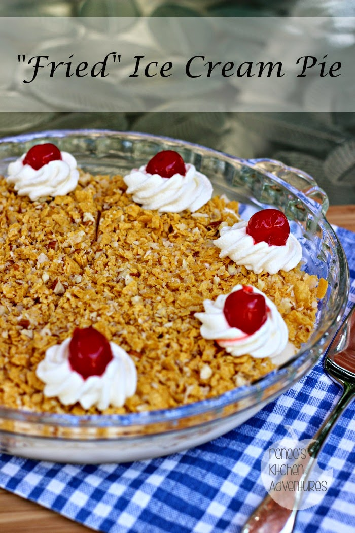 """Fried"" Ice Cream Pie #IceCreamWeek  Easy restuarant food at home!"
