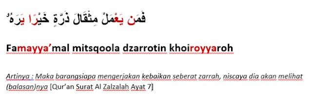 Contoh Bacaan Idgham Bighunnah Surat Al-Zalzalah ayat 7