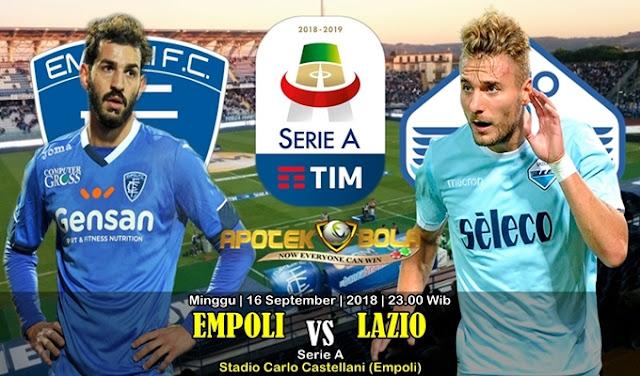 Prediksi Empoli vs Lazio 16 September 2018