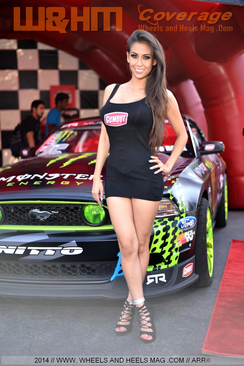 2014 Formula Drift Irwindale Model Lyna Ly for Gumout at the lifestyle expo vendor
