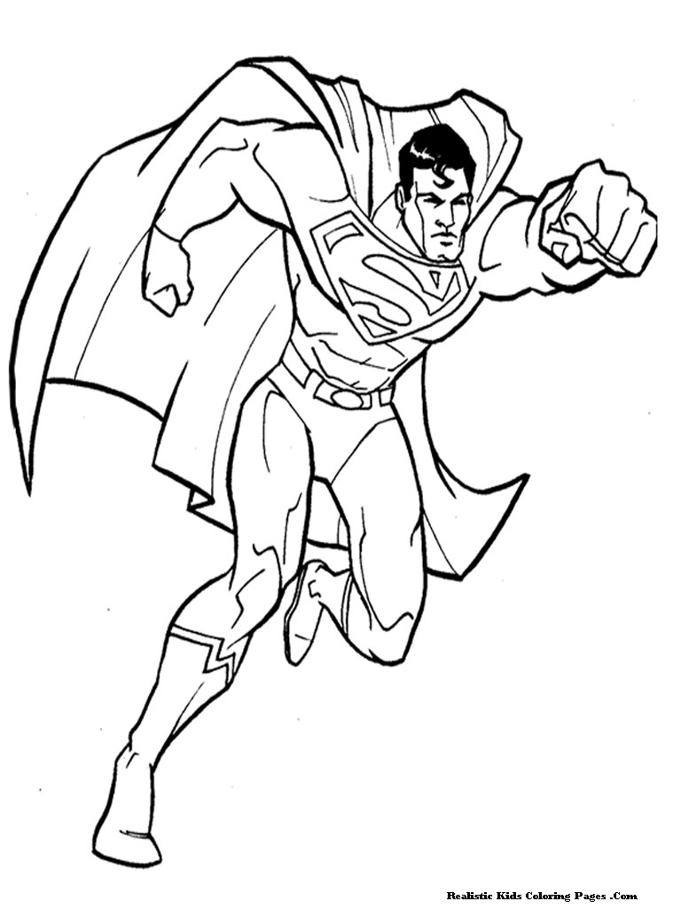 Man of steel coloring pages realistic coloring pages for Coloring pages man