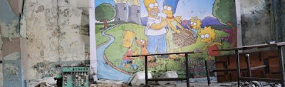 'The Simpsons' Mural in Chernobyl — Street artist takes on nuclear industry one year after Fukushima