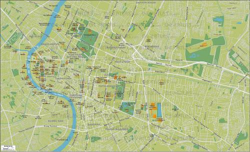 Bangkok city map