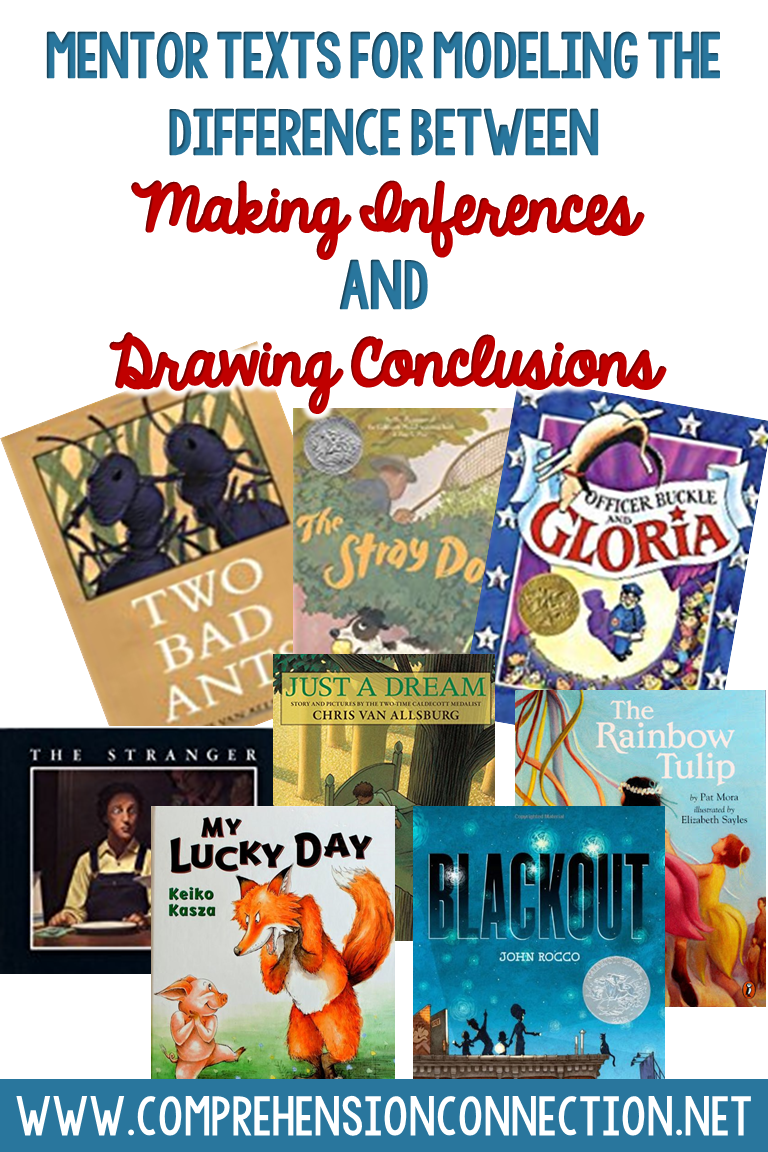 exploring the difference between making inferences and drawing