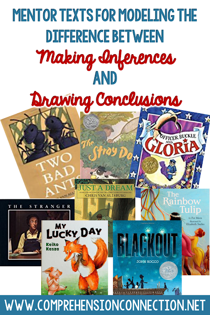 Teaching the difference between an inference and a conclusion is really tough. In this post, you'll see the difference, examples, and recommendations for teaching. Freebie included.
