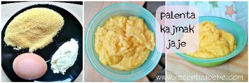 Palenta, kajmak i jaja za bebe