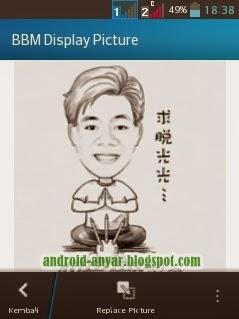Trik solusi cara atasi tak bisa replace BBM display picture BBM di Android