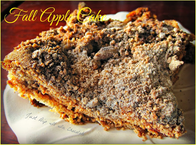 "Fall Apple Cake Recipe, the flavors of fall on each slice of this delicious cake, buttery, sweet and moist! The best way to have ""that apple a day""! #applerecipe #applecake #falldesserts"