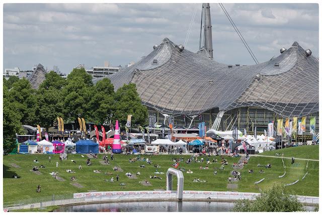 Auf dem Olympia-Gelände im München ist viel Platz für die eBike Days München, zum Beispiel für einen Uphill-Flow Parcours.