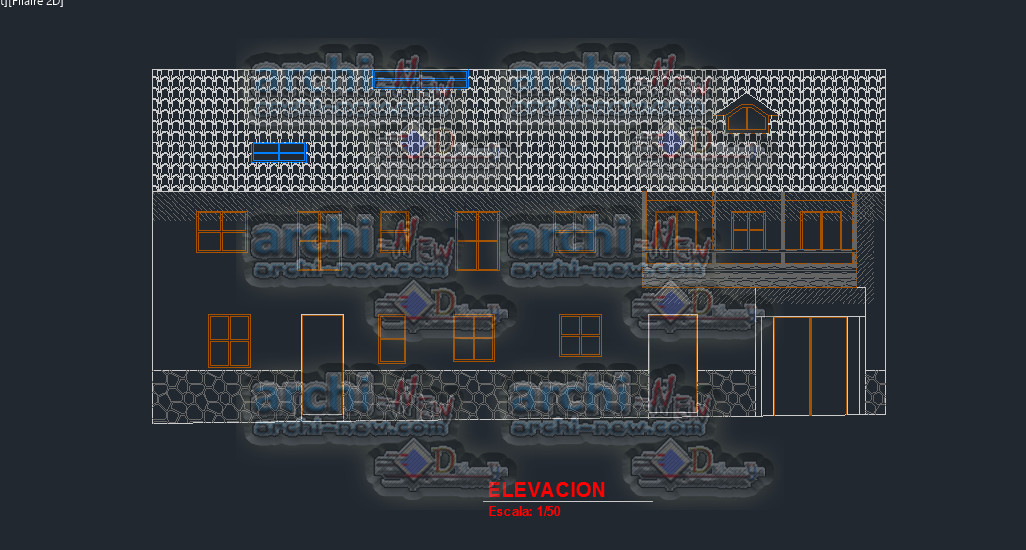 Download autocad cad dwg file choquechaca colonial house for House cad file