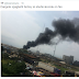 Raw Photos: Dangote spaghetti factory in Ikorodu reportedly gutted by fire