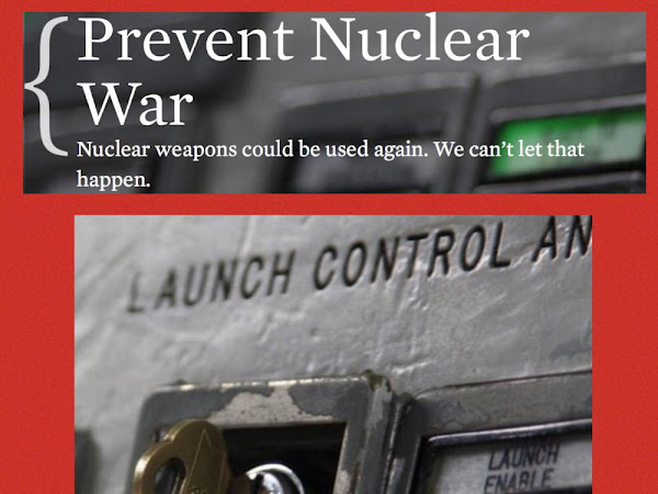 This Afternoon, Jan 17th 2pm & Tonight 6pm-Prevent Nuclear War