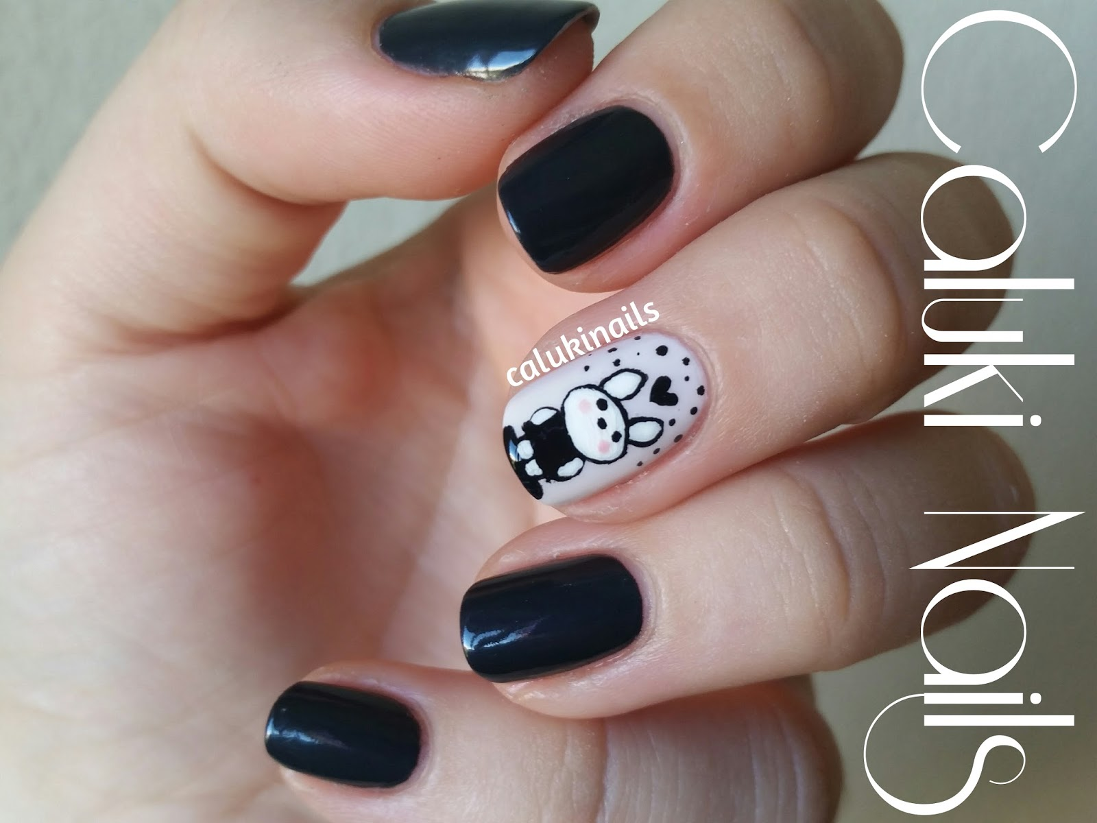 Caluki Nails Nail Art Conejito Liquorice De Isadora