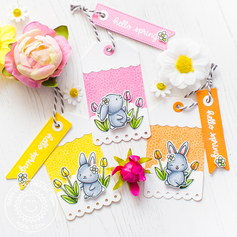 Sunny Studio Stamps | Chubby Bunny Tags - Mona Toth