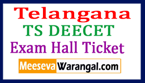 Telangana TS DEECET Exam Hall Ticket