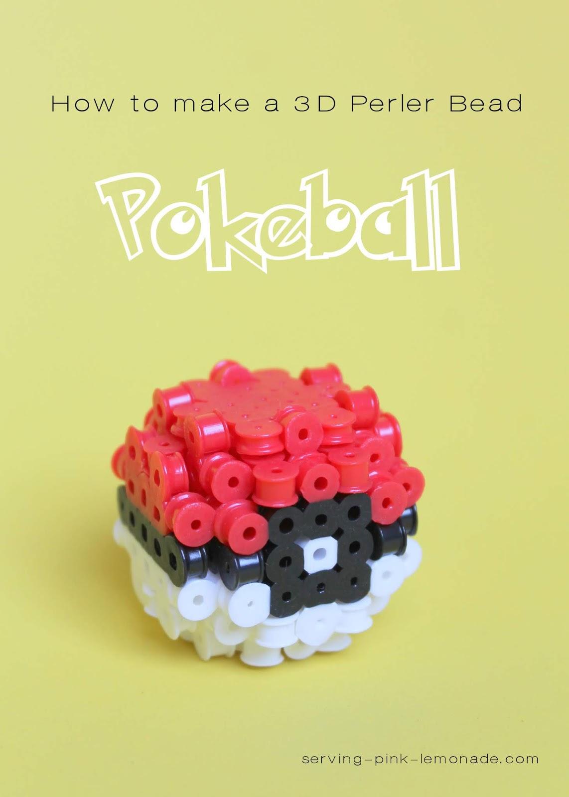 Serving Pink Lemonade: 3D Perler Bead Pokeball