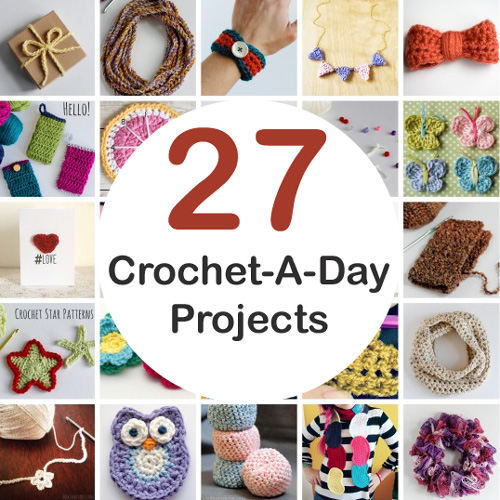 Crochet-A-Day Patterns and Tutorials