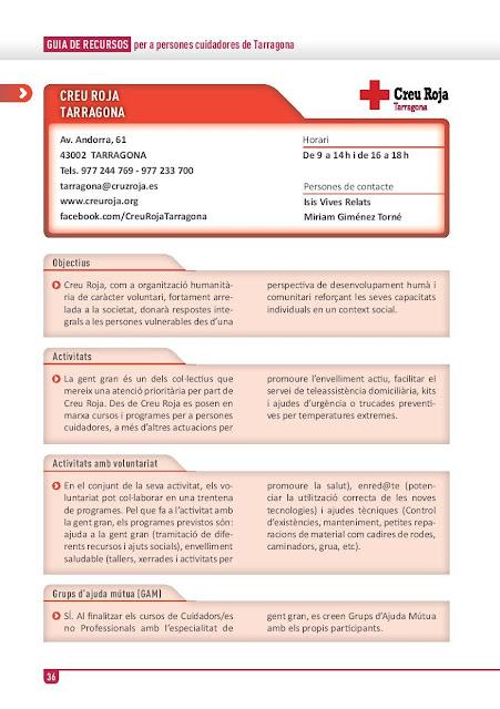 Xarxa de Suport a les Famílies Cuidadores de Tarragona: Creu Roja Tarragona