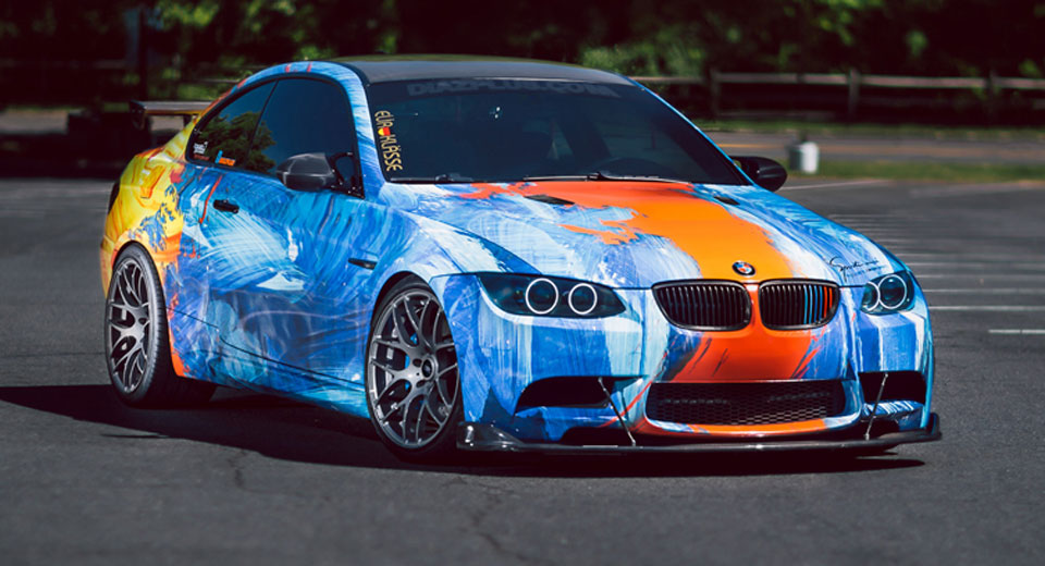 Bmw E92 M3 Combines Water And Fire With Outlandish Wrap