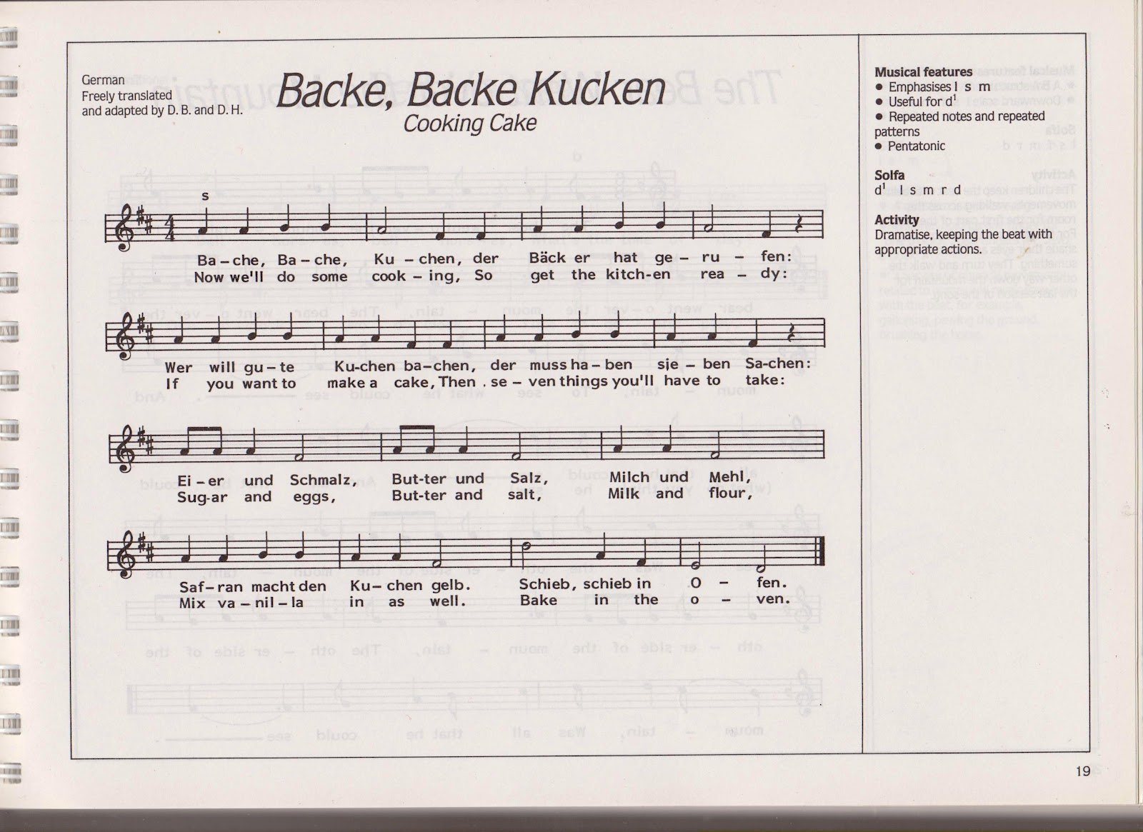 Backe Backe Kuchen Song Tokana 39s Child Care Blog 2012