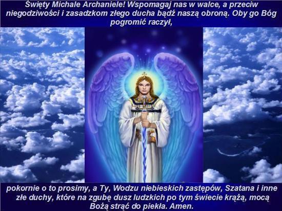 Święty Michale Archaniele wspomagaj