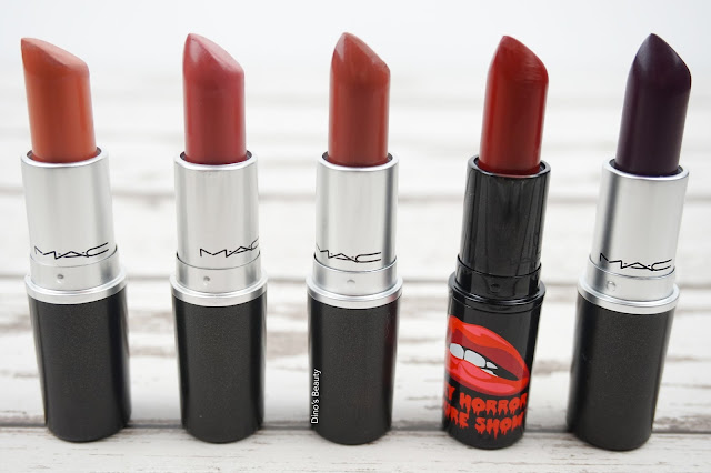 Dino's Beauty Diary - My Top Used MAC Lipsticks