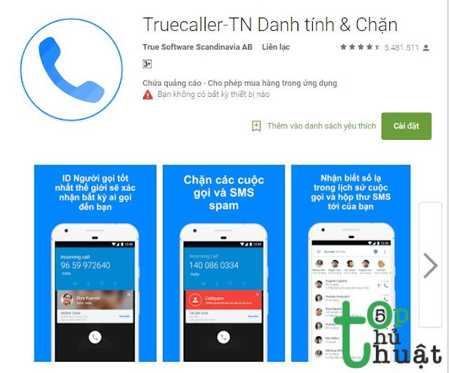 True Caller - Ứng dụng chặn cuộc gọi spam hiệu quả