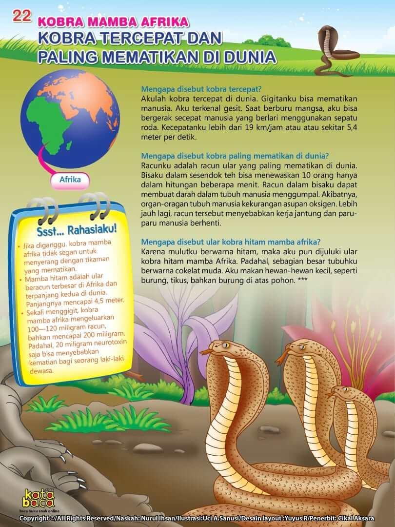 Ular Kobra Mamba Afrika adalah Ular Paling Mematikan di Dunia