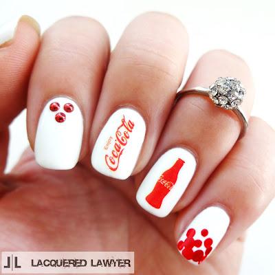 Coca-Cola Nail Art