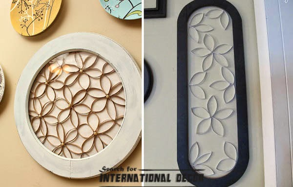 Recycled Art Plat For Wall Decor