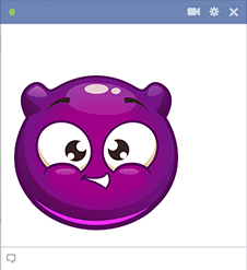 Purple Bubble Smiley
