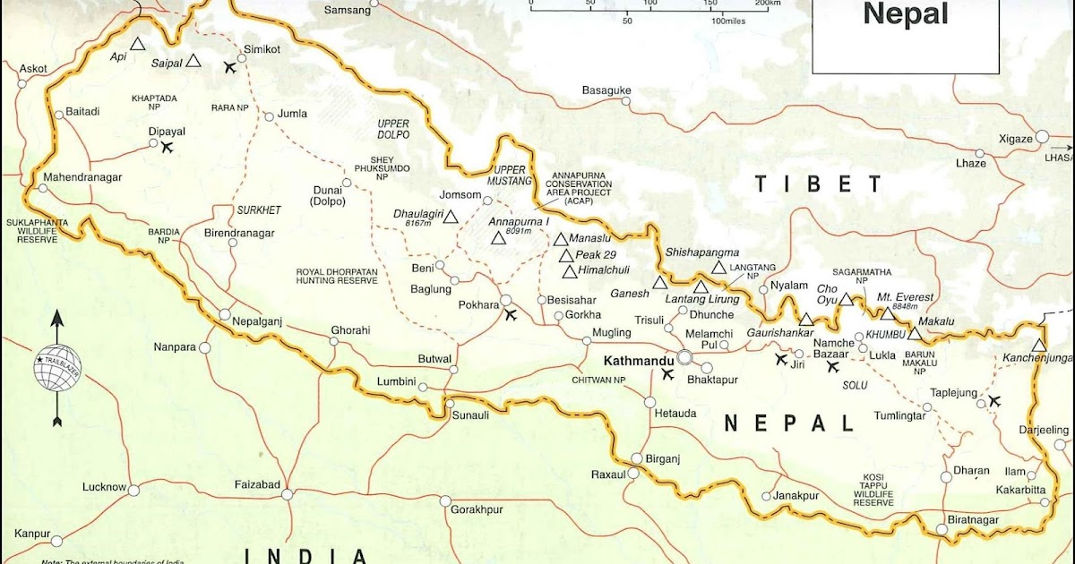 Cartes topographiques du Népal