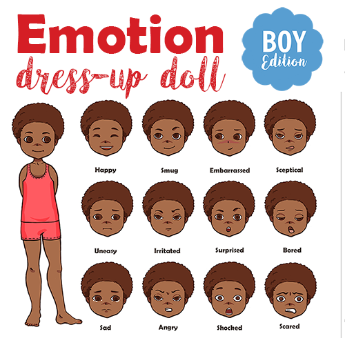 Emotions paper doll