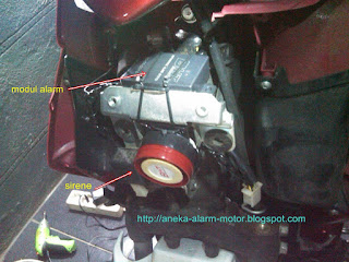 Cara pasang alarm motor pada Suzuki Hayate