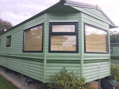green static caravan double glazing windows and doors