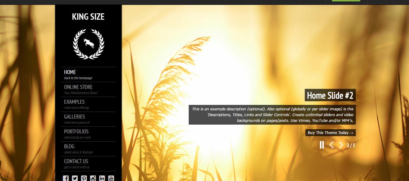 KingSize-Fullscreen Photography Themes