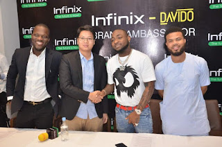 Davido and infinix