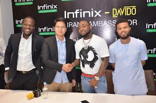 Davido and infinix
