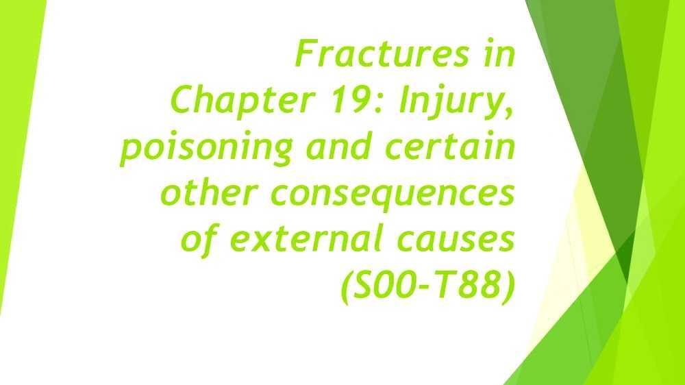 ICD-10 Chapter XIX: Injury, poisoning and certain other