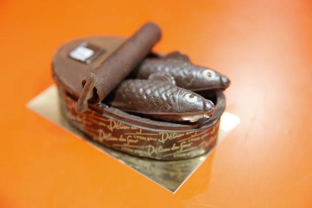czekoladowe sardynki