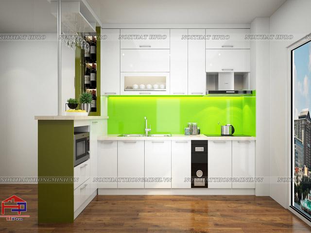 Mẫu thiết kế tủ bếp nhựa acrylic -7