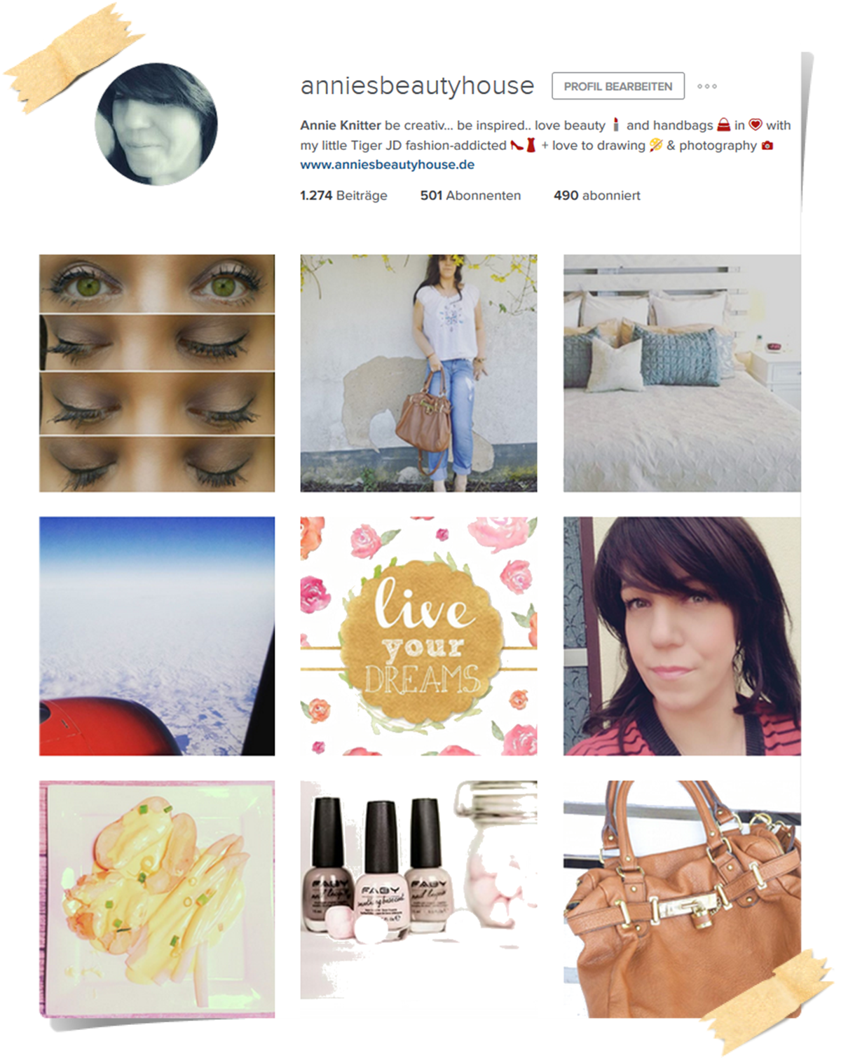 Monthly Instagram Review - Profile and last pictures on instagram