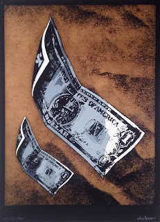 Antoni Miró obra gráfica denuncia social Dólar