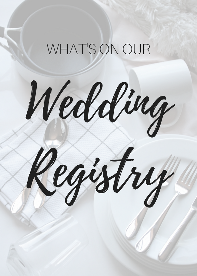 Just jessie b our wedding registry im so excited to share with you a list of all of the things we registered for as a soon to be married couple the wedding registry was something i hadnt junglespirit Choice Image