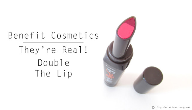 Benefit Cosmetics they're real! double the lip Review Swatch Pink Thrills