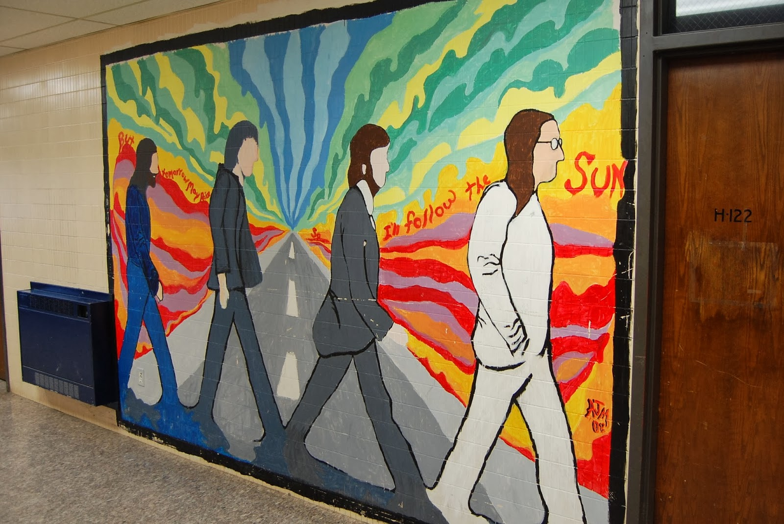 mural in the current FHS building