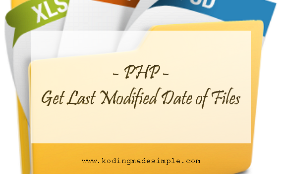 get file last modified date php