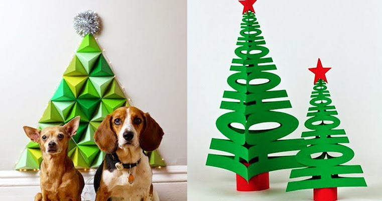 Diy to try paper christmas tree ohoh blog diy and crafts for B q christmas decorations
