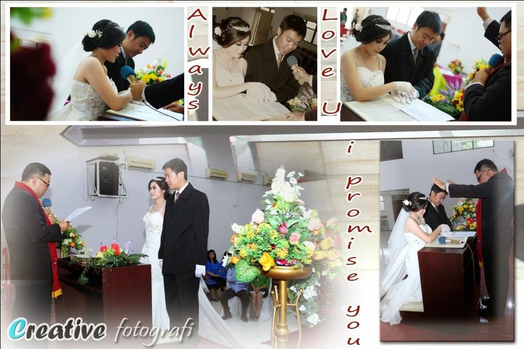 foto wedding di semarang saat acara pemberkatan di gereja