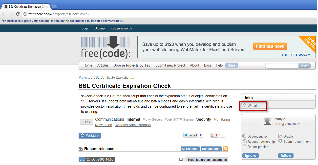 Automating ssl certificate expiry validation for vcenter server it took me awhile to find the script but its located on the right side of the screen where it says website you can also download it from the xflitez Images